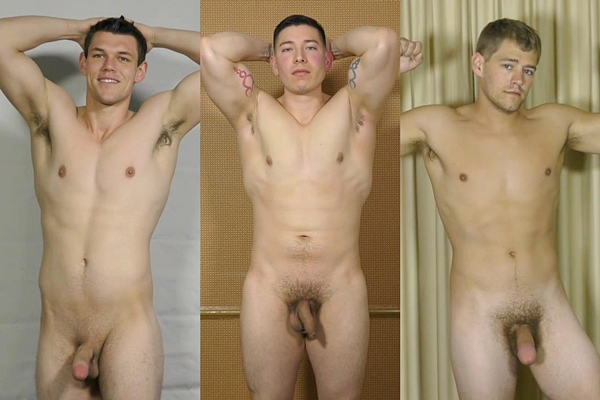 Hot fresh straight jocks Chris, Dallas and Lance shoot their sticky loads at Theguysite