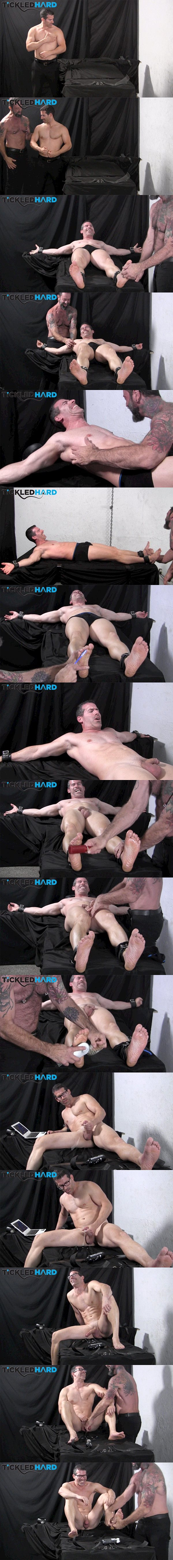 Hot muscle hunk Mitch gets tickled naked before he wanks off at Tickledhard 02
