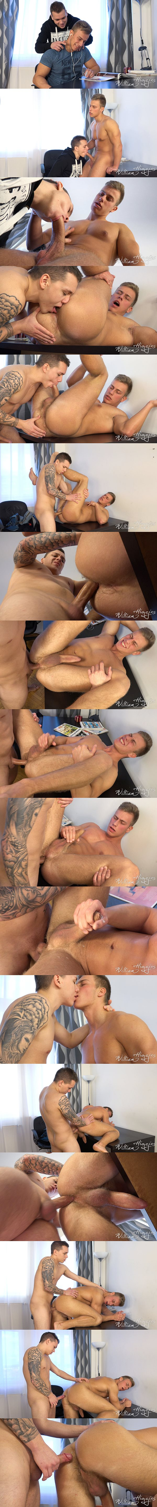 Marion Anel barebacks hot muscle jock Bradley Cook at Williamhiggins 02