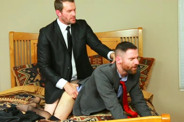 Carson fucks Leon in Business Affairs - Gold Toe & Stockings at Gentlemenscloset