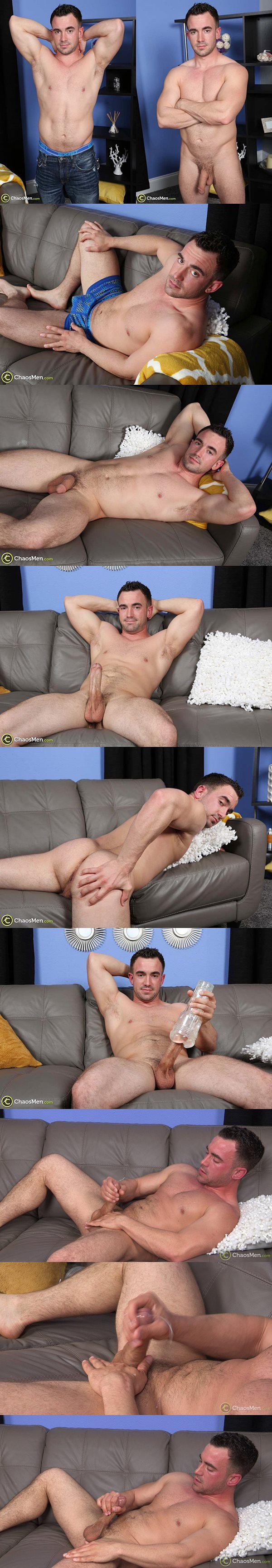 Hot new bi-sexual jock Zak Fit plays with a fleshjack and wanks off at Chaosmen