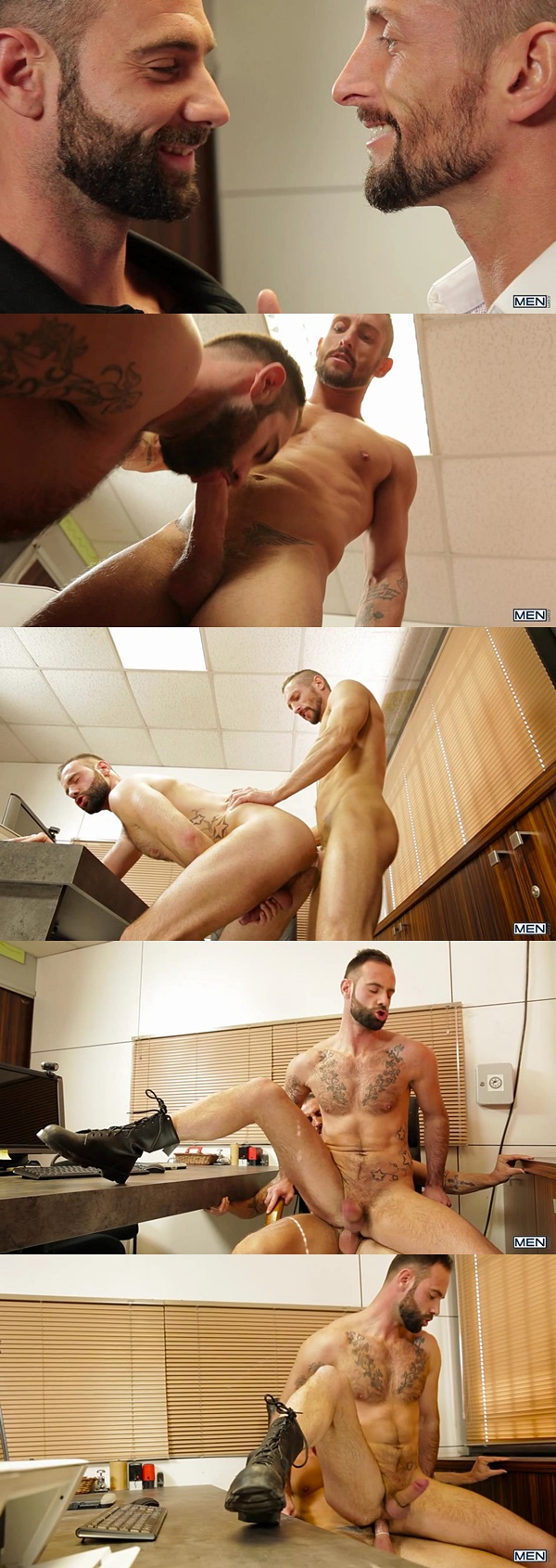 Hot muscle hunk Eddie Walker fucks Griffin Barrows at Str8togay