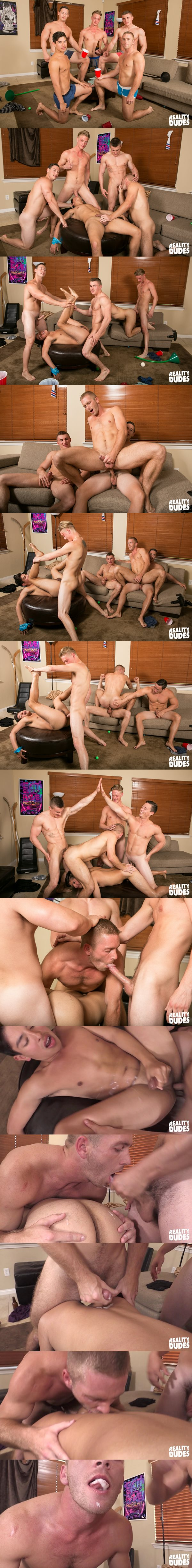 Jake Davis, Ken and Tobias bareback Scott Riley in A Spit Delight at Realitydudes 02