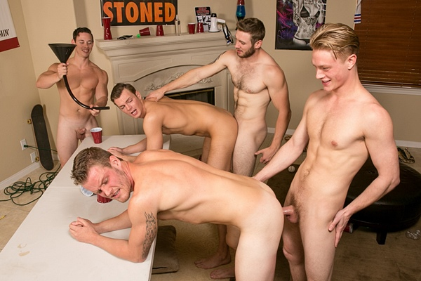 Cole, Ken and Tobias Bareback Chase and Sean in Flip Cup 2 Bareback Fuck at Realitydudes