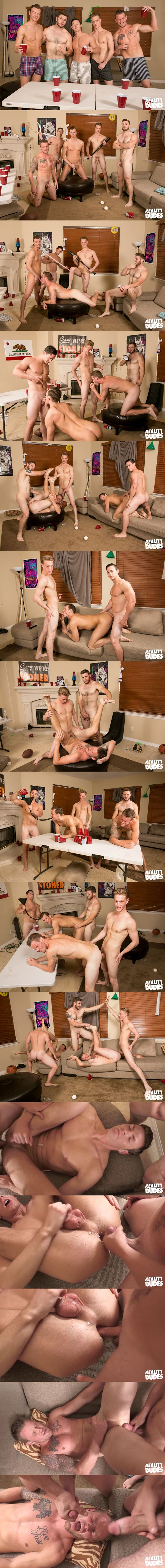 Cole, Ken and Tobias Bareback Chase and Sean in Flip Cup 2 Bareback Fuck at Realitydudes 02