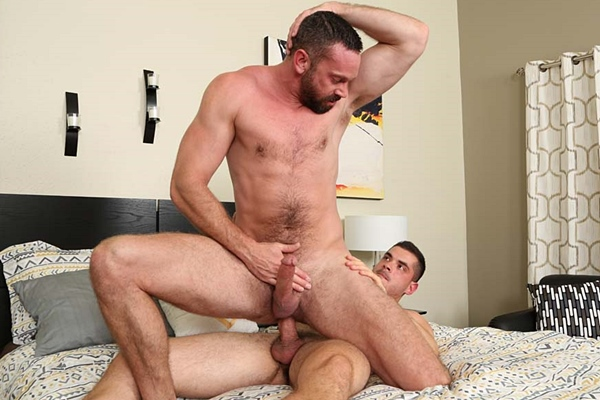 Ayer barebacks and creampies masculine bearded daddy at Chaosmen
