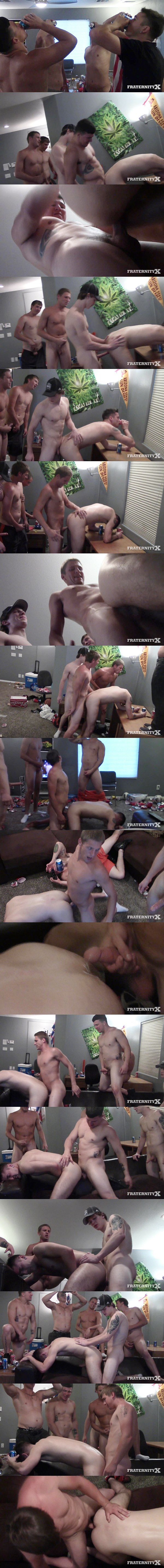 Mike, Danny, Russel and Tyler gangbang creampie Gauge in Liquored Up & Fucked at Fraternityx 02