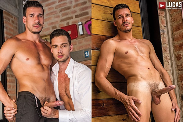 Big-dicked macho hunk Roman Berman barebacks Damon Heart at Lucasentertainment