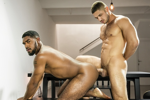 Dato Foland fucks hot black muscle hunk XL in Discover at Men