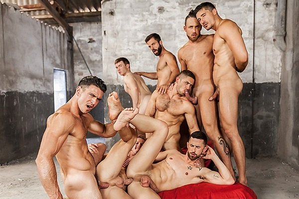 A Sneak Peek of 3 hot new orgy scenes at Men