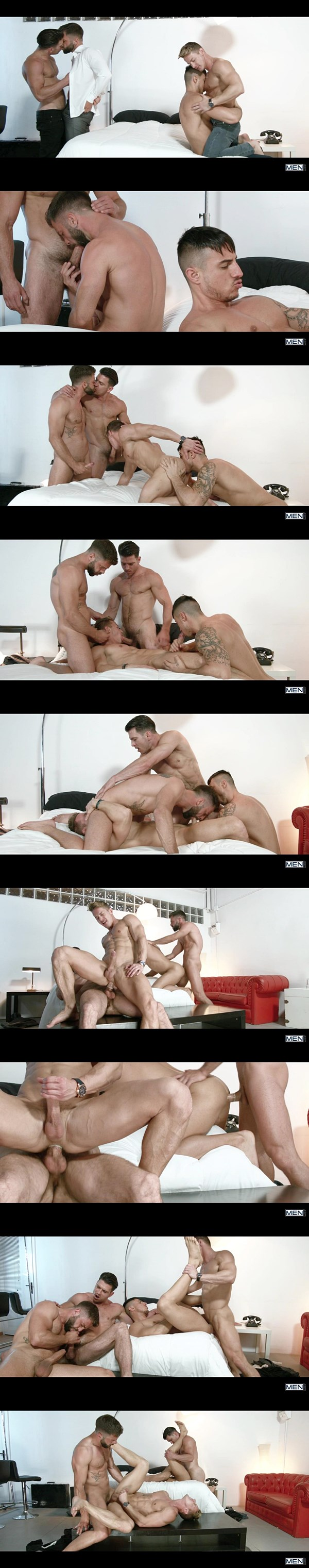 A Sneak Peek of Paddy O'Brian & Hector De Silva fucking Darius Ferdynand & Klein Kerr at Jizzorgy