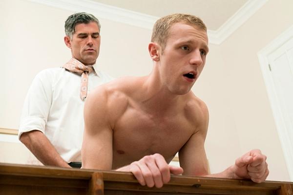 President Oaks creampies hot blond jock Elder Holland's tight virgin ass at Mormonboyz