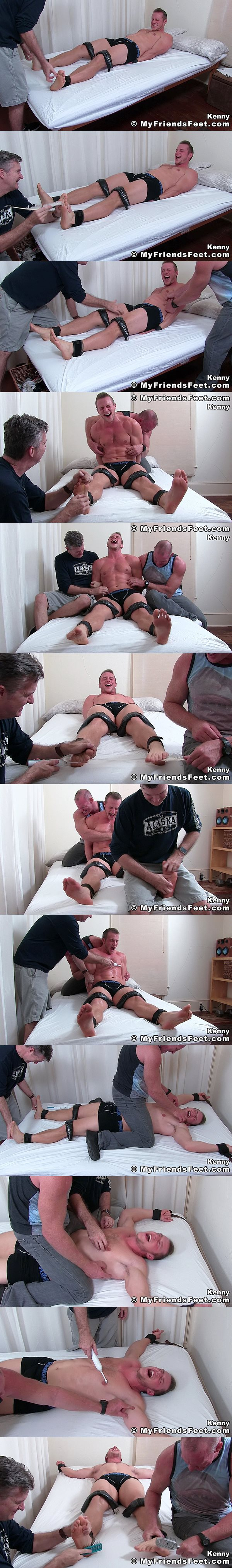 Hot athletic jock Kenny captured and tickled at Myfriendsfeet