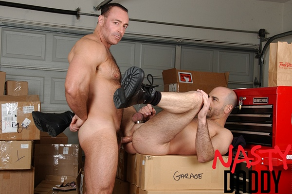 Masculine hairy bear Brad Kalvo fucks Adam Russo at Nastydaddy