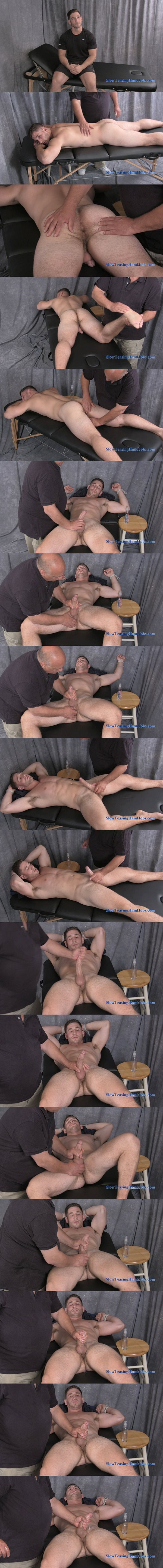 Handsome construction worker Anthony massaged and edged at Slowteasinghandjobs 02