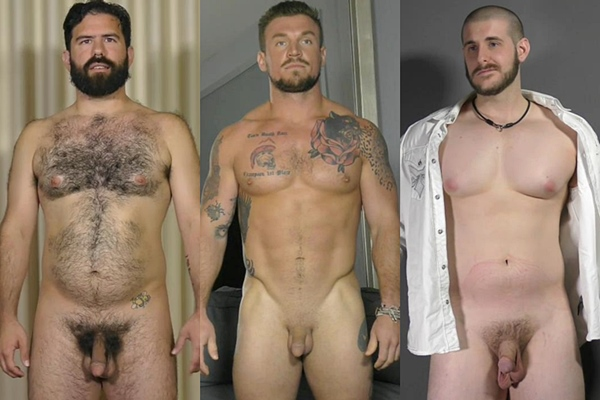 Hot macho hunks Daniel, David and Jimmy jerk off at Theguysite