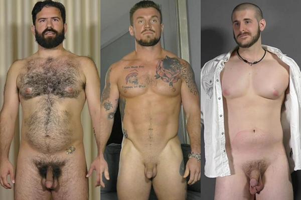 Hot macho hunks Daniel, David and Jimmy jerk off at Theguysite