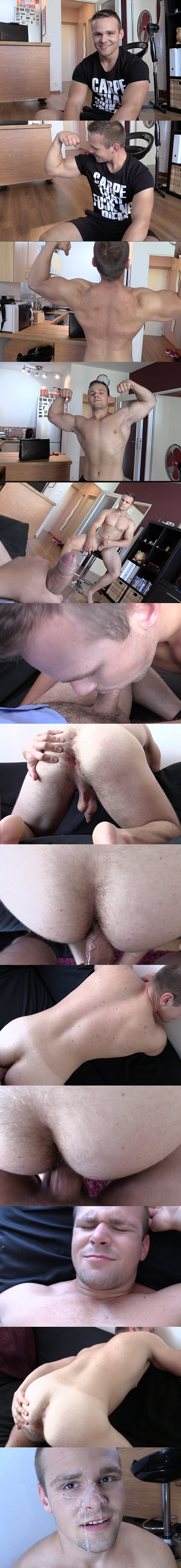 The cameraman barebacks an athletic jock's tight ass in Debt Dandy 157 at Debtdandy