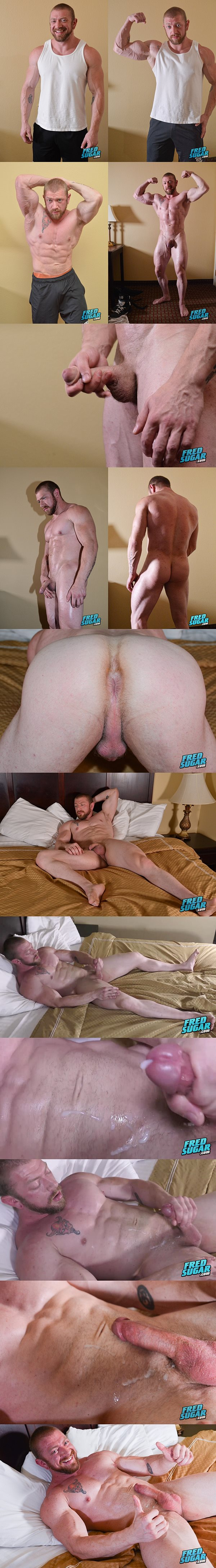 Masculine Bodybuilder Viking Strong wanks off at Fredsugar