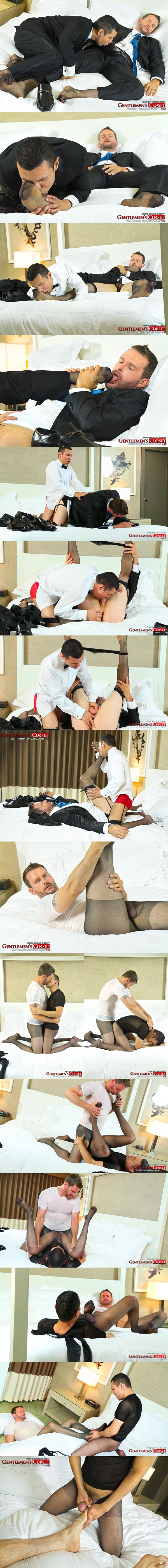 Carson and Fernando Reve worship each other's stockings at Gentlemenscloset 02