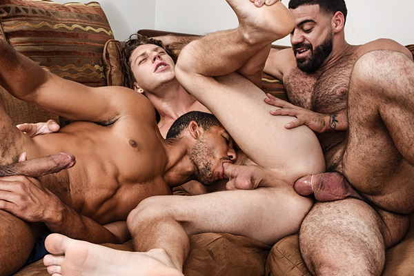 Sexy fuzzy macho hunk Ricky Larkin Fucks Mike Maverick and Paul Canon in Peepers Part 1 at Drillmyhole