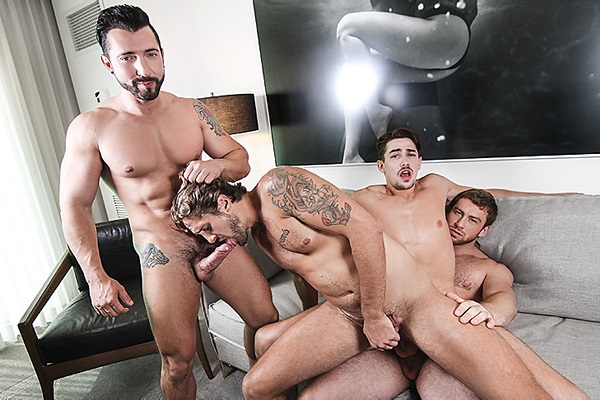 A Sneak Peek of Jimmy Durano & Connor Maguire fucking Jack Hunter & Wesley Woods at Jizzorgy
