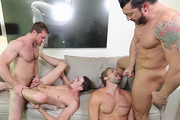 A Sneak Peek of Jimmy Durano & Connor Maguire fucking Jack Hunter & Wesley Woods at Jizzorgy 01