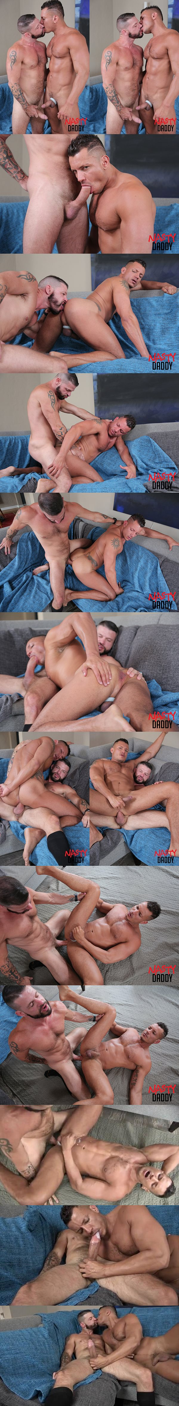 Hung macho hunk Tex Davidson barebacks Angelo Marconi at Nastydaddy 02