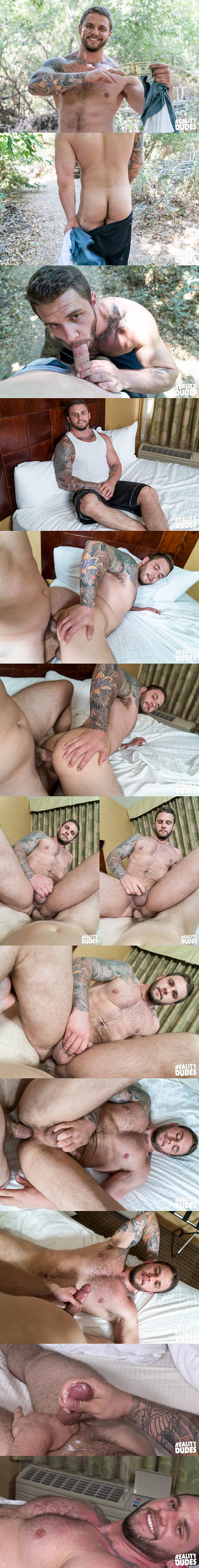 Hot tattooed muscle hunk Rocke gets his virgin ass popped up at Realitydudes 02