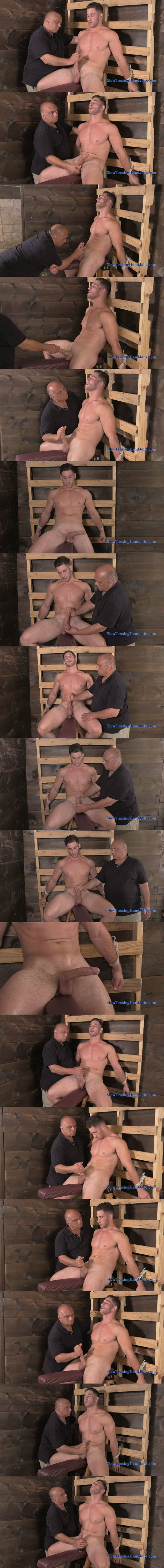 Handsome straight muscle hunk Anthony gets a slow tormenting hand job at Slowteasinghandjobs 02