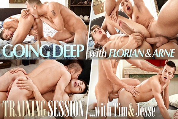 2 hot new scenes starring Florian Nemec, Arne Coen, Tim Campbell and Jesse Tobey at Belamionline