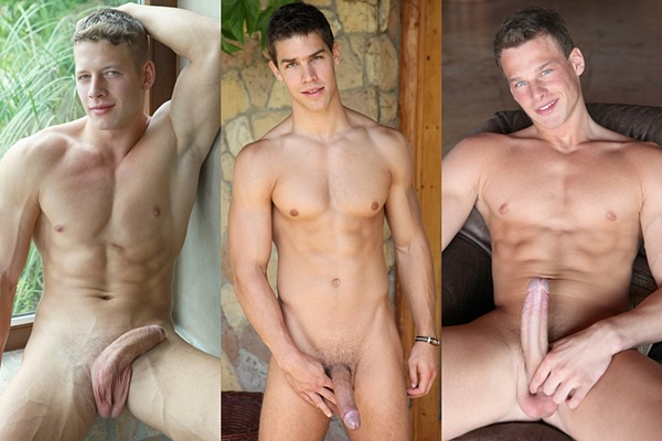 Super hot muscle jocks Zac DeHaan, Kris Evans and Ryan Kutcher at Belamionline