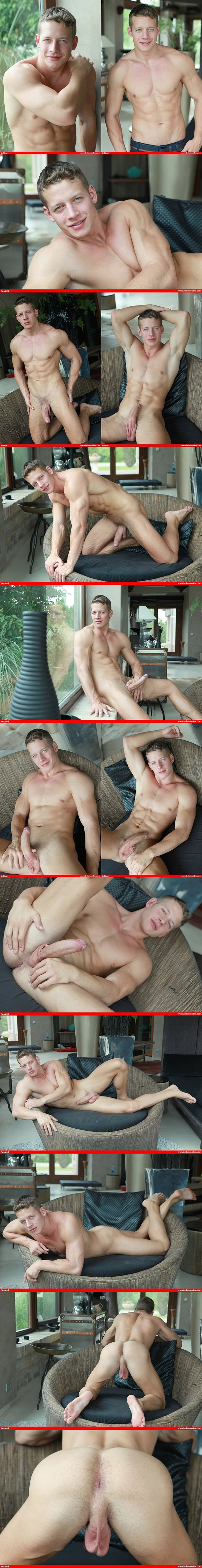 Hot photo session of handsome Hungarian muscle jock Zac DeHaan at Belamionline
