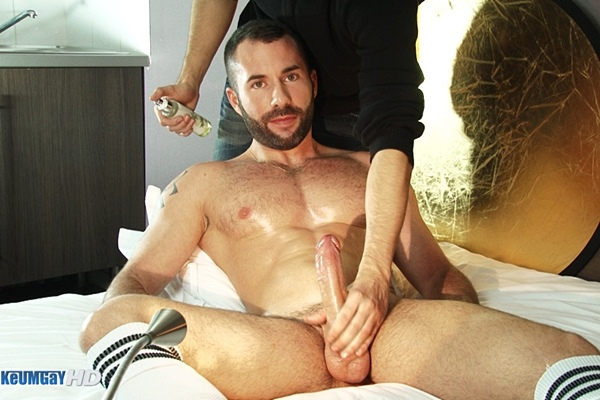 Hot masculine sport guy Steff massaged and wanked at Keumgay