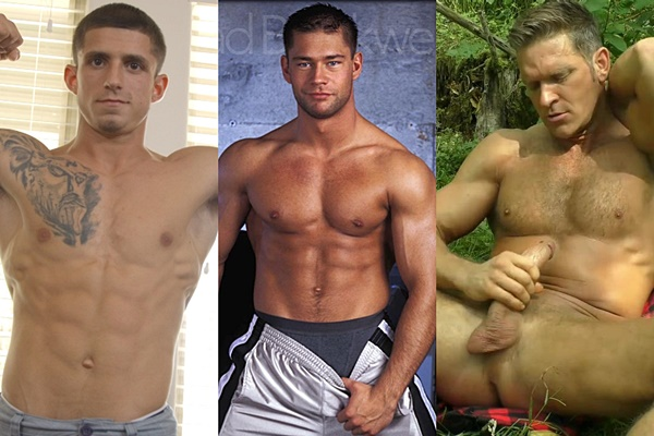 Hot guys Kevin, Brad Brockwell and Brent Ray Fraser jerk off
