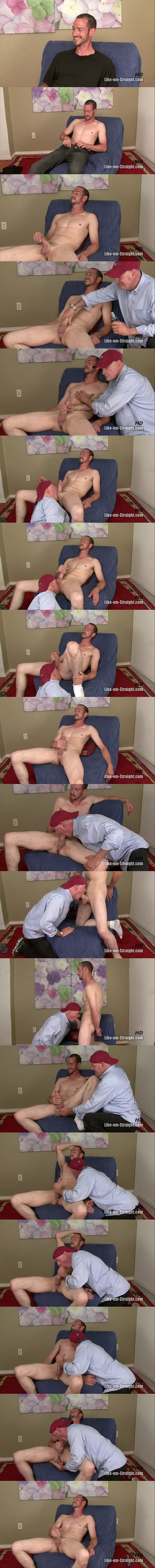 hot masculine lumberjack Trace deep-throated, rimmed, ass fingered and jerked at Like-em-straight 02