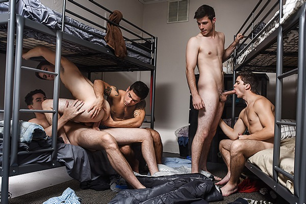 A Sneak Peek of Noah Jones & Vadim Black fucking Zach Taylor, Will Braun & Jack Hunter at Jizzorgy