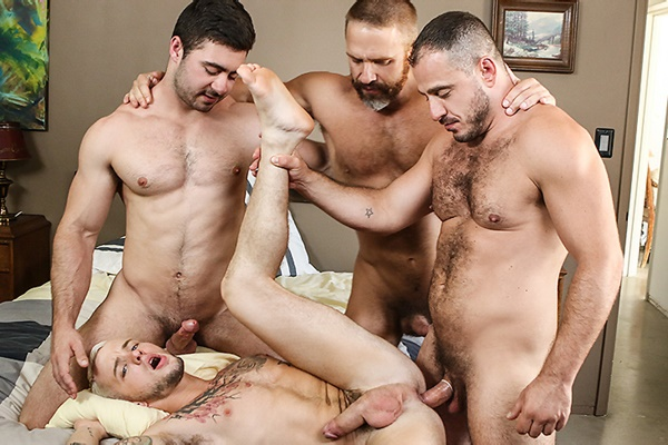 A Sneak Peek of Derek Bolt, Dirk Caber & Marc Giacomo fucking Colton Grey at Drillmyhole
