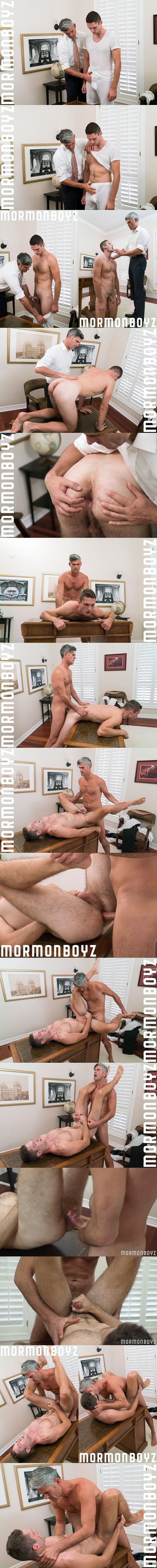 President Oaks barebacks hot Russian jock Elder Dobrovnik's virgin ass at Mormonboyz 02
