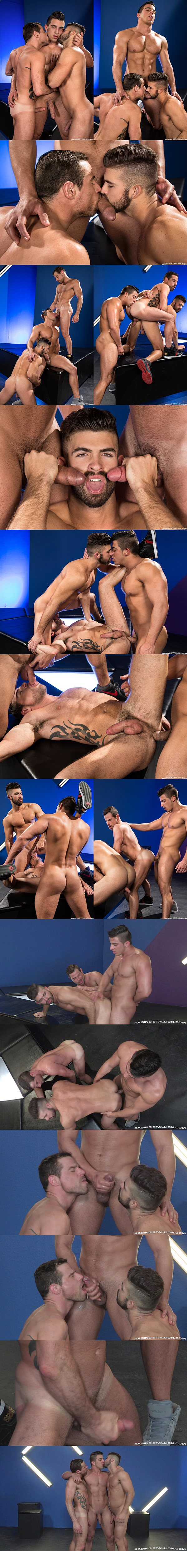 Hot latin muscle hunk Jacob Taylor fucks Derek Deluca and Jonah Fontana at Ragingstallion 02
