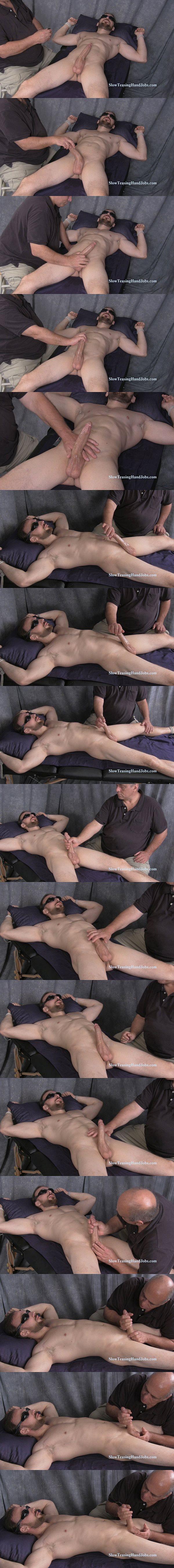 Masculine bearded straight plumber Mark slowly jerked off at Slowteasinghandjobs 02