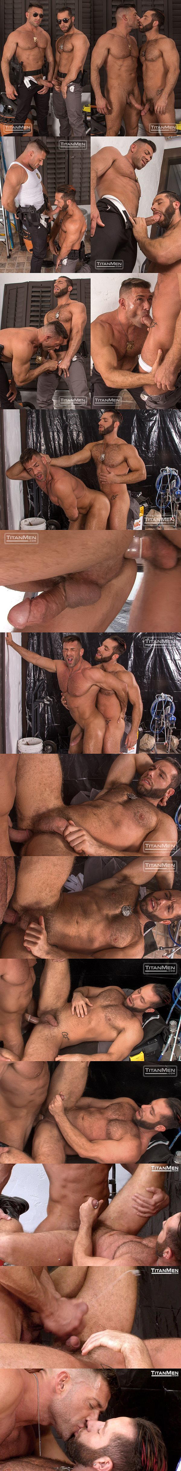 Handsome muscle hunk Bruce Beckham flip-fucks beefy hairy stud Eddy Ceetee in Parole at Titanmen 02