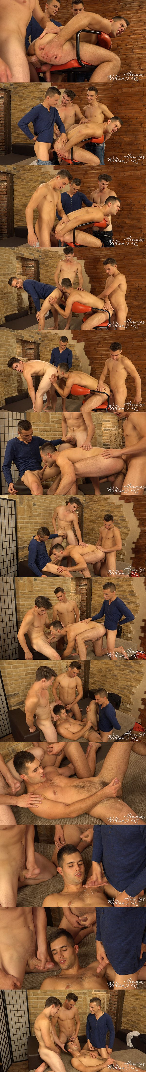 Dusan Polanek, Martin Polnak and Peter Andre bareback Alan Carly in Wank Party 2016 #10 Part 2 at Williamhiggins 02