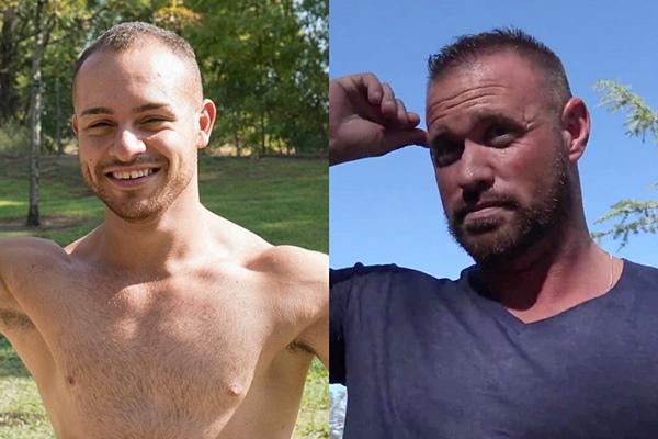 Bottoming debut alert of hot straight muscle jock Gabe and macho hunk Michael Roman at Realitydudes