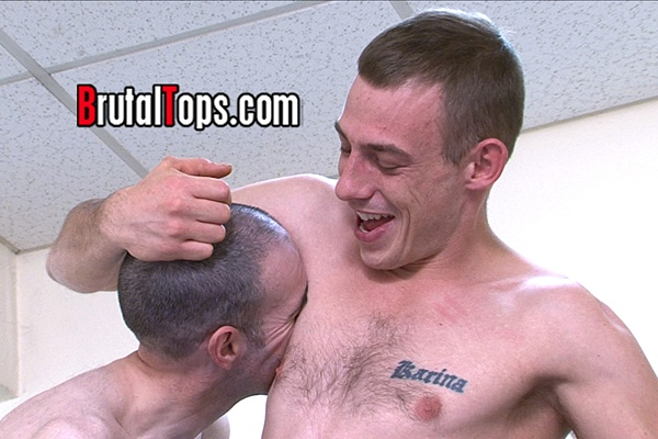 Hot hung young Master Kyle dominates a skinny feeble sub in Session 340 at Brutaltops