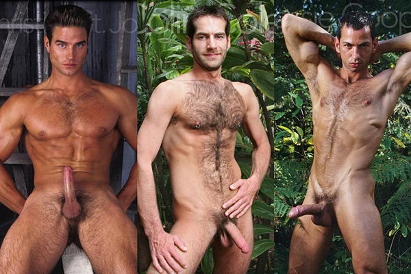 Hot straight guys Christian St. Jon, Colin Cole and Jessie Cooper jerk off at Legendmen