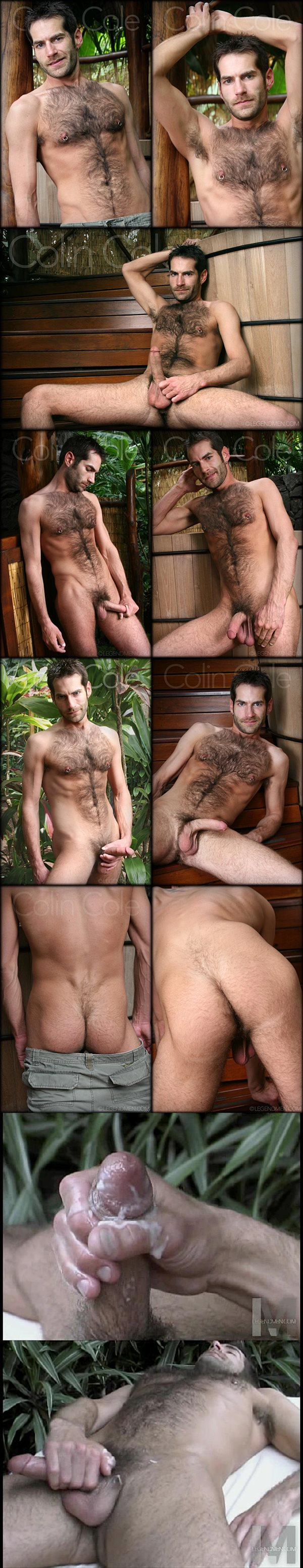 Sexy hairy dude Colin Cole wanks off at Legendmen