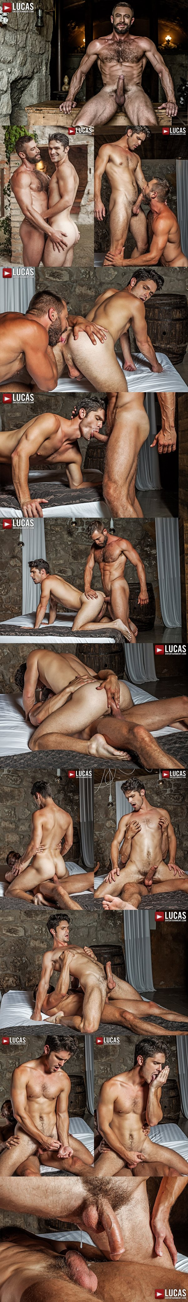 Hot muscle Daddy Bulrog barebacks and creampies Devin Franco at Lucasentertainment 02