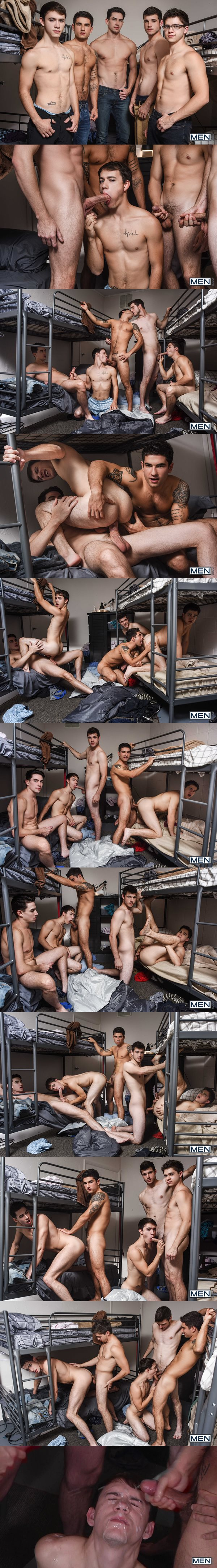 Hot straight jocks Noah Jones and Vadim Black fuck Zach Taylor, Will Braun and Jack Hunter at Jizzorgy 02