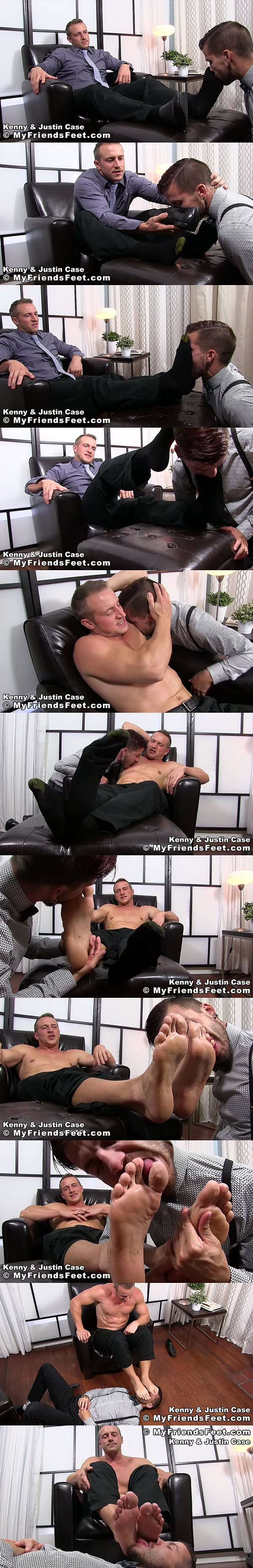 Hot muscle jock Kenny (aka Doc Tay Tay) worshiped by Justin Case at Myfriendsfeet 02